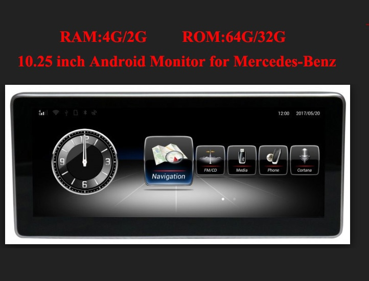 Mercedes-Benz 10.25 inch Android Monitor