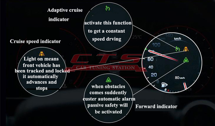 Range Rover adaptive cruise control system