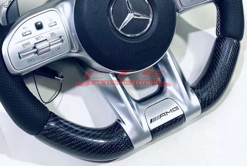 AMG style steering wheel with LED display